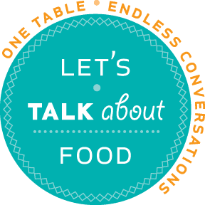 Logo: Let's Talk About Food.